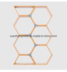 Rek van de Bloem van de Combinatie van de Planken van de Plank van de Woonkamer van het Rek van het bamboe het Bevindende