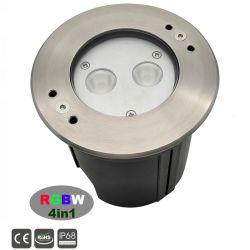 8W RGBW LED IP68, bajo el agua de acero inoxidable accesorios de piscina