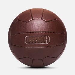 Vintage Retro en cuir brun antique ballon de soccer