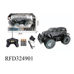 Giocattoli di modello del camion RC di telecomando di 1:24 RC dell'automobile del giocattolo speciale multifunzionale del volante della polizia per i capretti