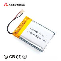 Bescherming tegen het milieu 3,7V 853450 1500mAh oplaadbare lithium-polymeerbatterij voor LED-verlichting