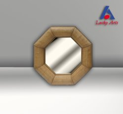 Specchio decorativo del blocco per grafici di bambù nello stile degli S.U.A.