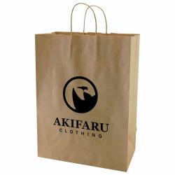 Reutilizáveis Kraft sacos de compras, sacos de papel de Design de Moda com pegas