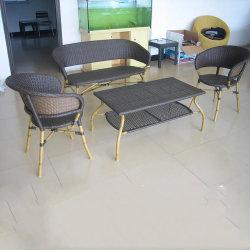En rotin de couleur sombre Outdoor look bambou fait main Café de gros meubles