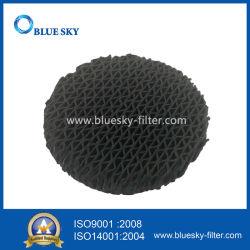 Personnalisés poreux de poussière de carbone rond noir de filtres HEPA pour aspirateur et purificateur d'air