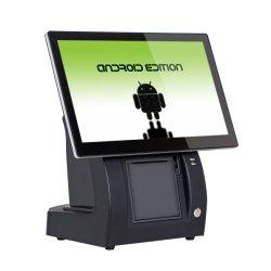 جهاز كمبيوتر لوحي يعمل بنظام Android مقاس 15 بوصة مزود بطرف توصيل داخلي لنقاط البيع للطابعة