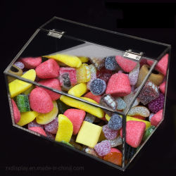 Kundenspezifischer Acrylsupermarkt-Süßigkeit-Zinn-Kasten-Schokoladen-Zufuhr-Behälter
