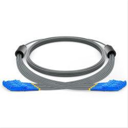 6 cavo ottico beige corazzato ad alta densità corazzato della zona della fibra di colore di singolo modo HD OS2 di memoria E2000-E2000 per la telecomunicazione