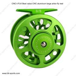 Commerce de gros la meilleure valeur CNC aluminium grand Arbor Fly Fishing rabatteur d'eau douce Truite 02A-I-FLK