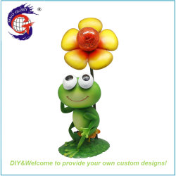 태양 가벼운 사랑스러운 금속 청개구리 홈과 정원 훈장 선물