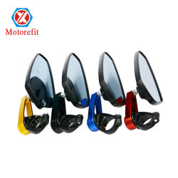 قطع الدراجة البخارية ملحقات الدراجات النارية المرايا الجانبية الطرفية لقضيب الرؤية الخلفية