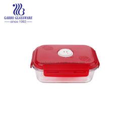1L 정연한 Pyrex 마이크로파 안전한 유리제 음식 콘테이너 유리제 음식 다채로운 완벽한 뚜껑 GB13G14195n를 가진 신선한 유리제 도시락