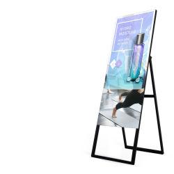 Android WiFi impermeabile LCD Magic Mirror Advertising Display Mirror con Sensore di movimento