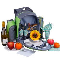 테이블 웨어가 있는 야외 피크닉 가방 다기능 숄더 아이스 백 쿨러 백 대용량 절연 가방