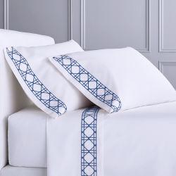 Вышитый дизайн-отель постельное белье 100 хлопка кровать листа покрытия