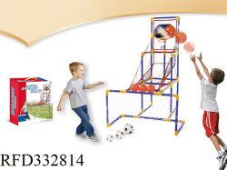 2 in 1 Basketball Hoop Stand Backboard obiettivo Calcio Basketball Set Tiro gioco di basket Calcio