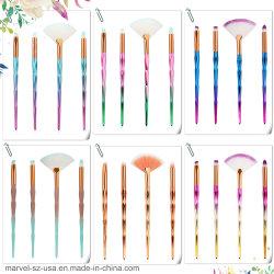 4pcs Diamond Eye Shadow Pinceaux de maquillage ensemble forment les Kits de l'outil Pinceau