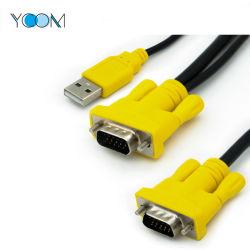 Ycom 2 en 1 Monitor USB al cable VGA y DVI