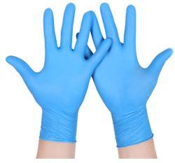 台所世帯のきれいな食品等級のビニールPVC手袋の粉の自由なポリエチレンか多かビニールの使い捨て可能な手袋の粉はヘルスケアのための暗藍色カラーと放す