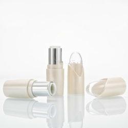 Pearl White tube de rouge à lèvres vides en plastique bouteille rechargeable maquillage beauté cosmétiques Baume à lèvres rouge à lèvres à l'emballage