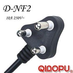 En Afrique du Sud 10A 3 broches Fiche du cordon (D-NF2)