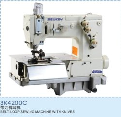 Sk4200c Riemen-Schleife industrielle Nähmaschine mit Messern