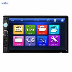 """カーラジオ2 DIN Autoradio 7 """" HDのタッチ画面のデジタル表示装置のBluetooth FM USB SDのカーラジオのマルチメディアのMP3プレーヤー7010b"""