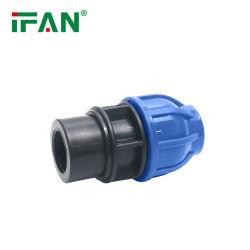 Design personalizado preço de fábrica t igual a todos os tipos de PP de HDPE PE as conexões de compressão de irrigação acoplamento fêmea