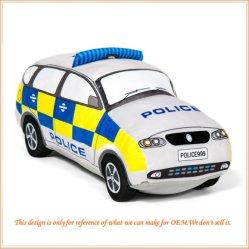 Het pluche Gevulde Voertuig van het Speelgoed van de Kinderen van de Politiewagen