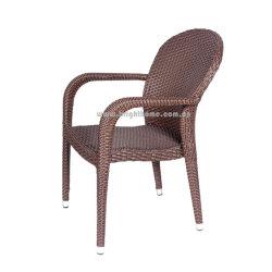 [بيتو] ألومنيوم إطار [ب] [رتّن] قهوة متجر حديقة كرسي تثبيت قابل للتراكم خارجيّة