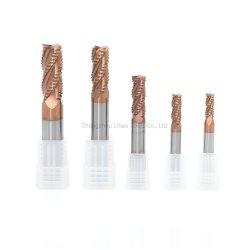 표준 HRC55 4 플루트 카바이드 합금 황삭 절단 공구 강철