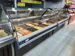 Supermarché haut de gamme commerciale et de viande réfrigérés Deli cas pour la vente d'affichage
