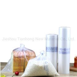 El almidón de maíz hechas 100% biodegradables las bolsas de plástico bolsas de plano la bolsa de polietileno producen en el rollo de frutas verduras