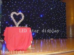 2m*3m, 2m*4m Contol DMX LED Flexible rideau de lumière en étoile avec velours résistant au feu pour DJ/phase
