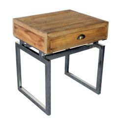 Le bois récupéré occasionnelle avec tiroir table côté stockage