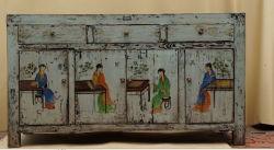 Olmo aparador de madera pintada a mano reproducciones de muebles antiguos