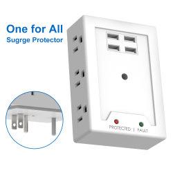 벽 Mountable 소켓 힘은 USB를 가진 큰 파도 Proetctor를 분리한다