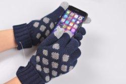 カシミヤ織のタッチ画面の互換性のあるGloves&Telefingersの手袋
