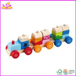 Brinquedo de Trem de Madeira para Crianças (W04A067)