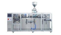 Aliments Double-Pouch/Liquides/snack/Beans//de riz à grain/Ecrous/Sauce aux arachides/sucre//FARINE/huile/thé et jus de remplissage et de l'emballage de la machine pour une variété de tailles et matériaux