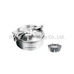 스테인레스강 비압력 맨홀 위생 라운드 커버(핸드휠 포함