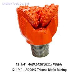 """12 1/4"""" رمز IADC 642 ماكينات التعدين حفر آبار المياه أدوات أدوات الحفر في الصخور Tricone bit"""