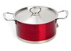 極度の品質の赤いカラーステンレス鋼多目的鍋