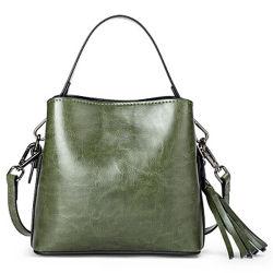 シンプルなスタイルの PU レザーレディス Hobo ハンドバッグ、タッセルオーナメント付き