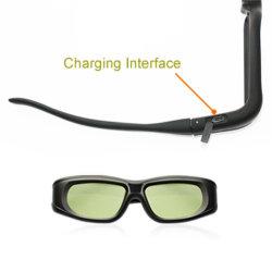 Anblick-Gläser des flüssigen Kristall-3D für Sony/Panasonic/Samsung 3D Fernsehapparat (G05-A)