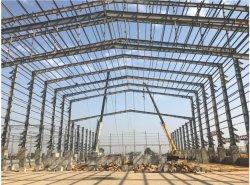 明確なスパンファブリック鉄棒の倉庫の構造の金属の建築構造