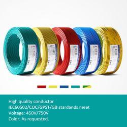 RoHS cobre aluminio flexible de PVC Conductor Insualted retardante de fuego alambre eléctrico de resistencia al calor 450V~750V 300V~500V de la construcción de cableado eléctrico