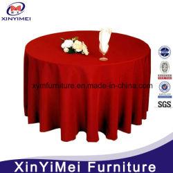 Venda por grosso de casamento de poliéster normal Redonda Branco pano de mesa