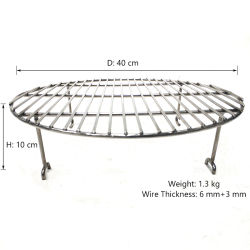 Griglia di cottura rotonda del BBQ dell'acciaio inossidabile/cremagliere rotonde del barbecue/rete metallica rotonda della griglia del barbecue con quattro piedini