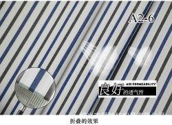 Древесный уголь/ВМС полосы мягкой пряжи Вся обшивочная ткань рубашки ткань